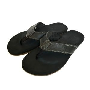 FLOJOS Mens Black Flip Flop Sandals